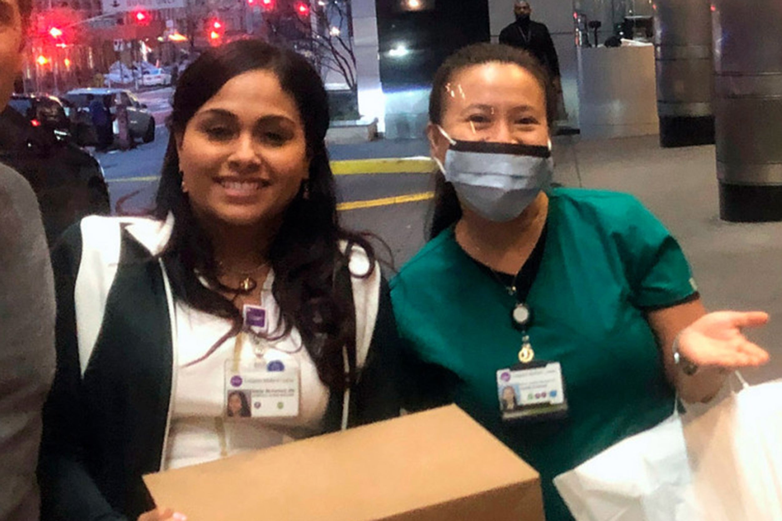 Delivering meals to a hospital in NYC.