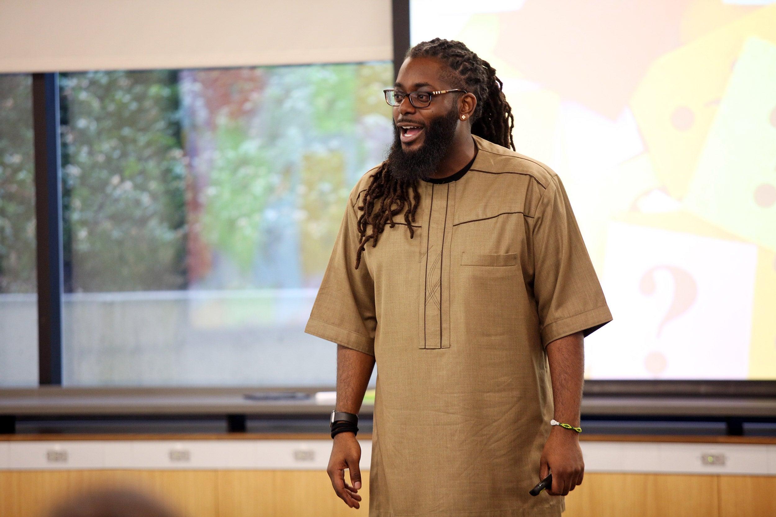Kwame Adams teaching.