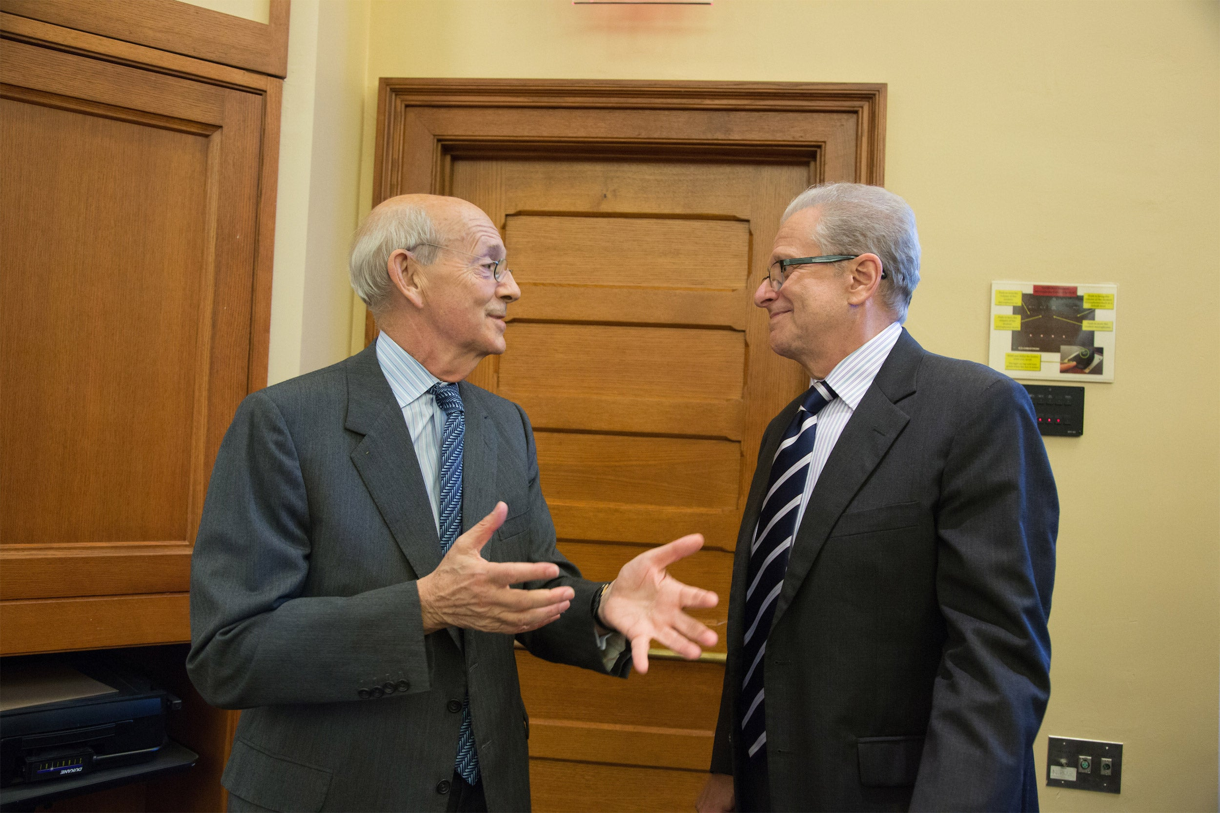 Justice Breyer and Laurence Tribe.