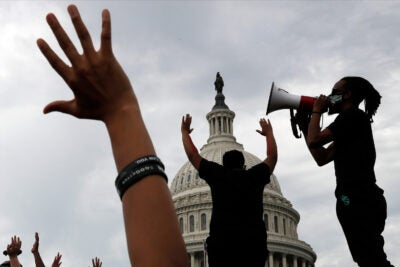 Protestors in D.C.