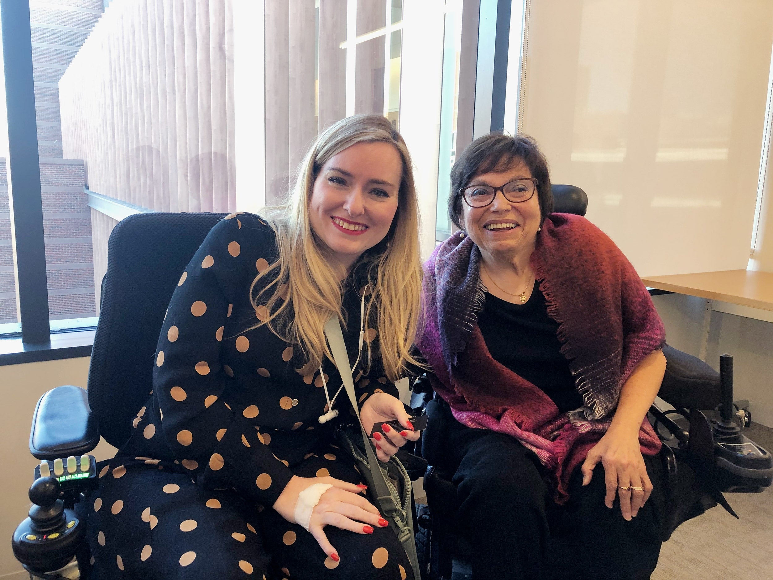 Ariella Barker with international disability rights activist Judith Heumann.