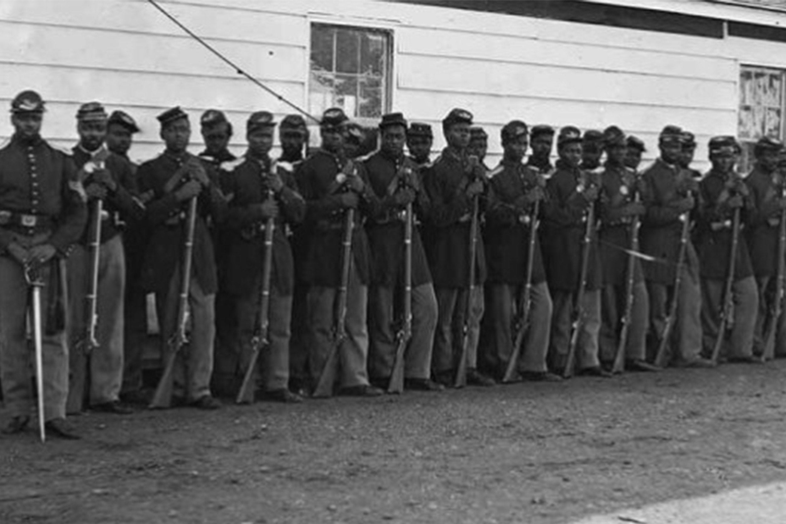 Black soldiers from the Civil War.