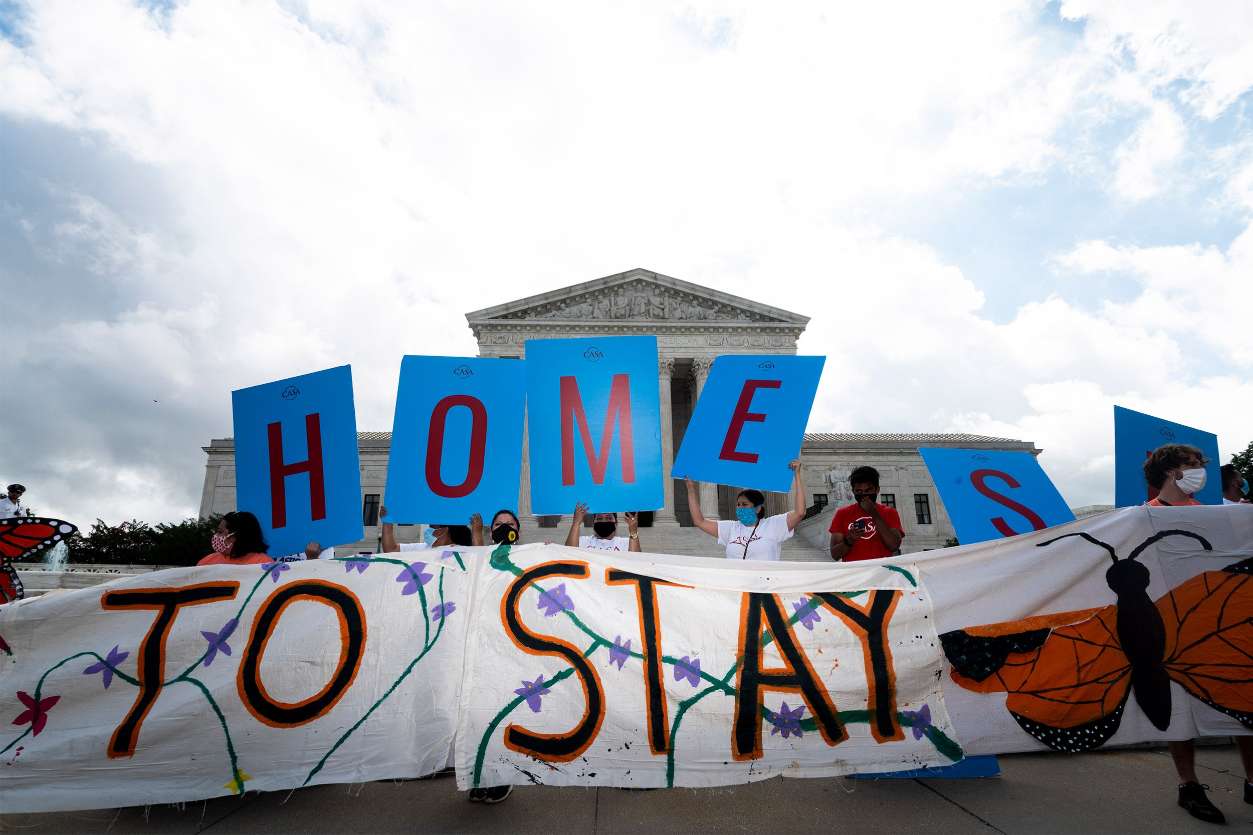 Dreamers and DACA supporters rally outside of the U.S. Supreme Court.