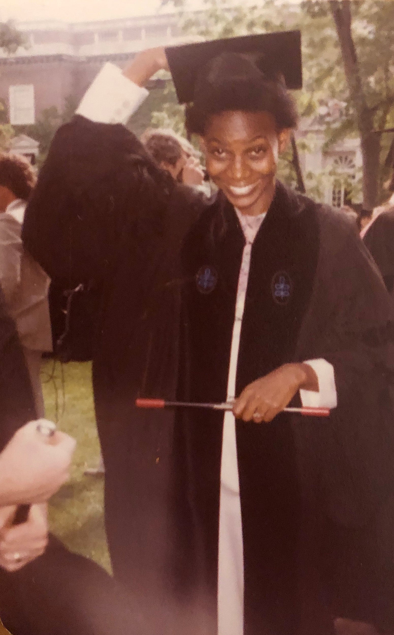 Deborah Brown at graduation.