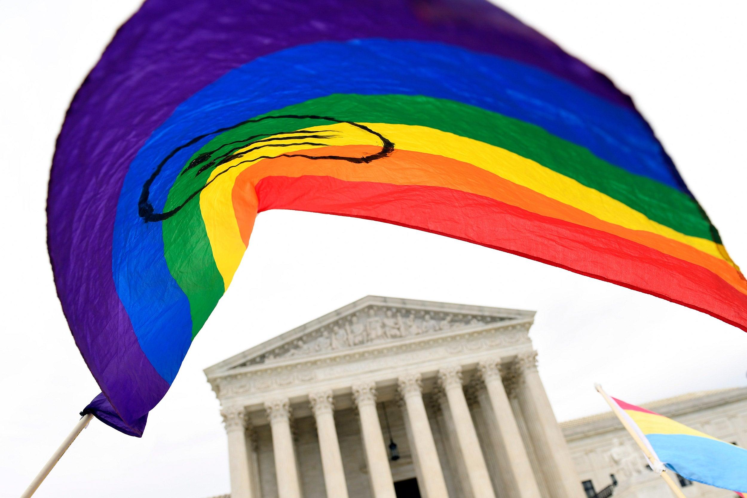 Rainbow flag in D.C.