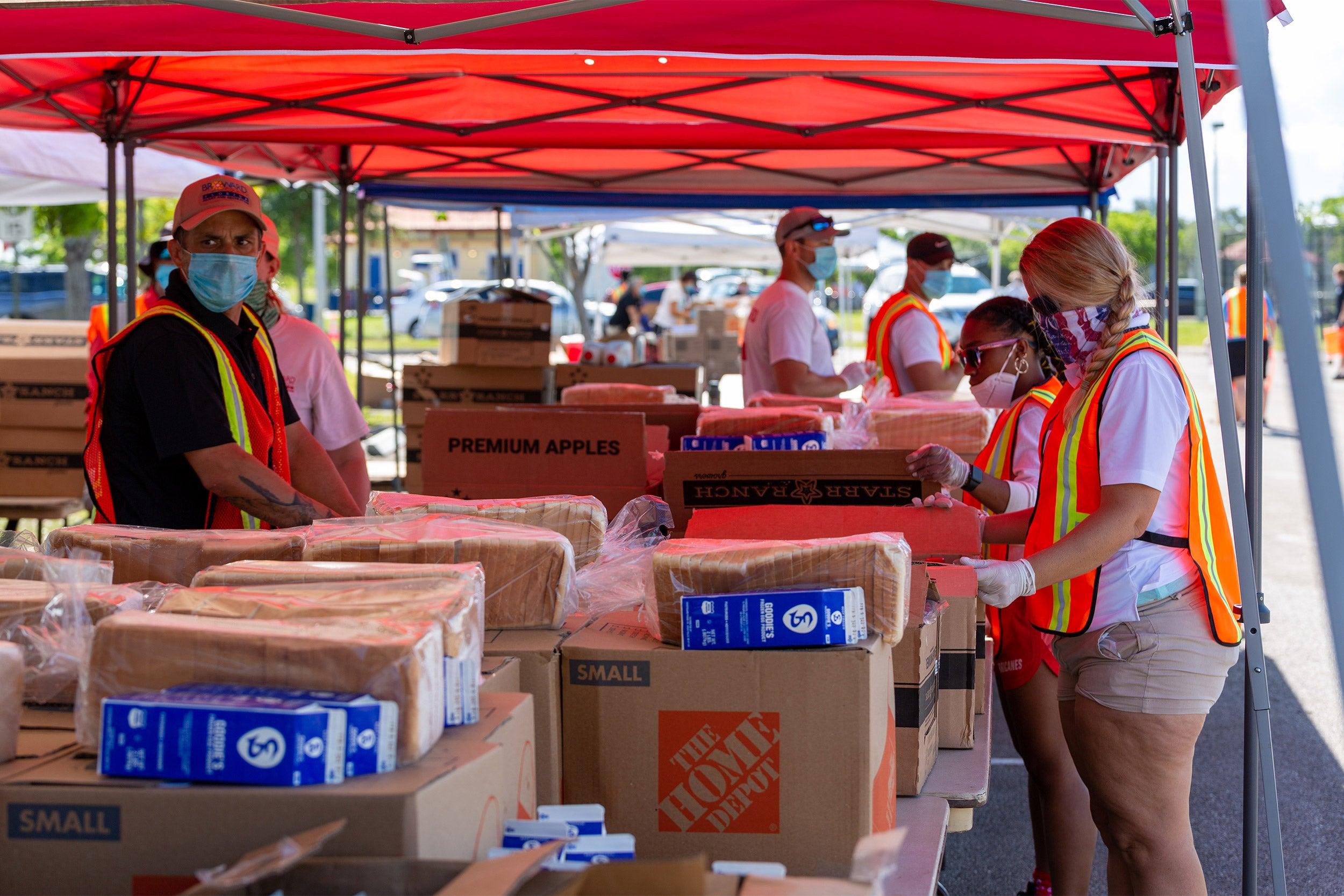 Food distribution site.
