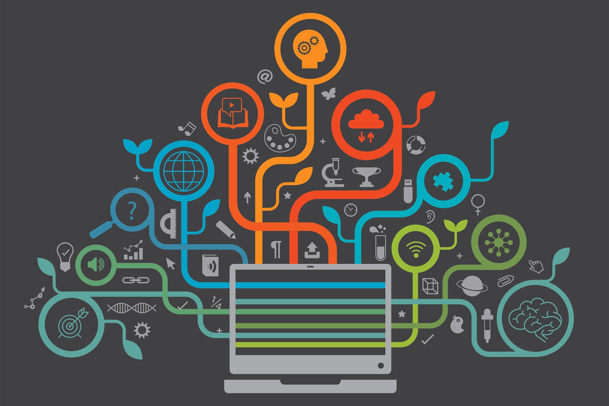 Online learning illustration.