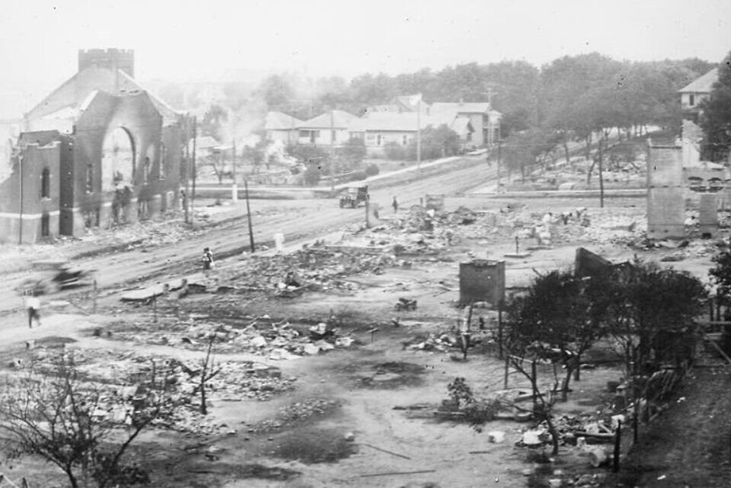 The gutted Greenwood District in 1921.