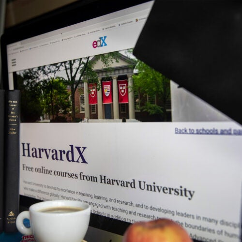 edX on computer screen.