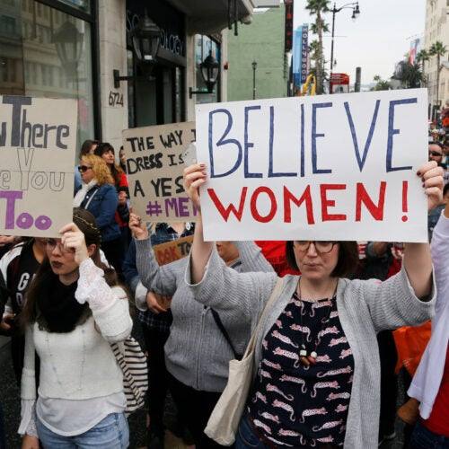 #MeToo March in 2017 in Hollywood.