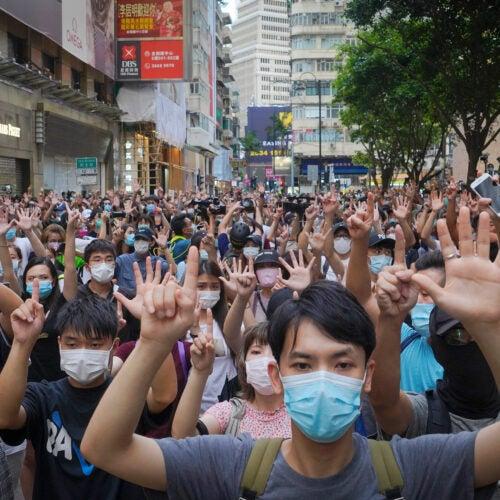 Hong Kong protesters.