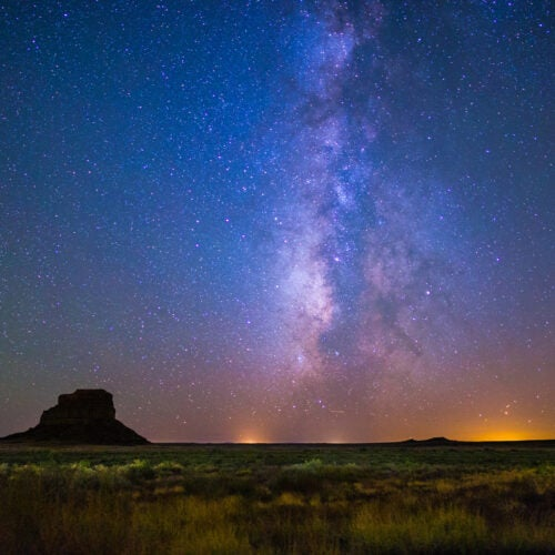 Milky Way rises above Fajada Butte.