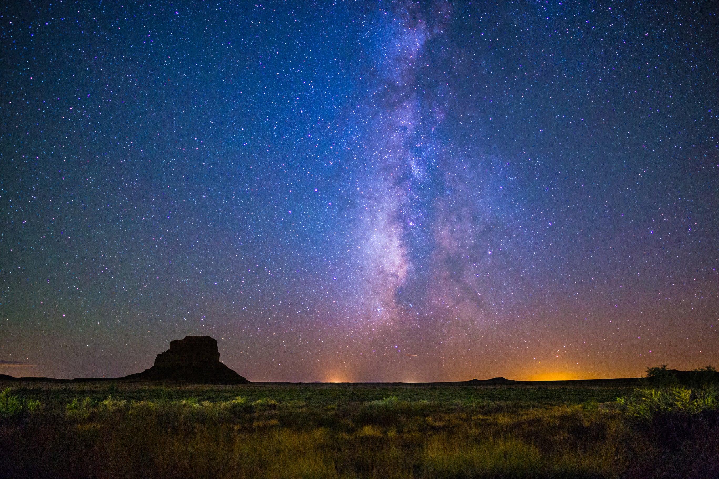 Milky Way rises above Fajada Butte.