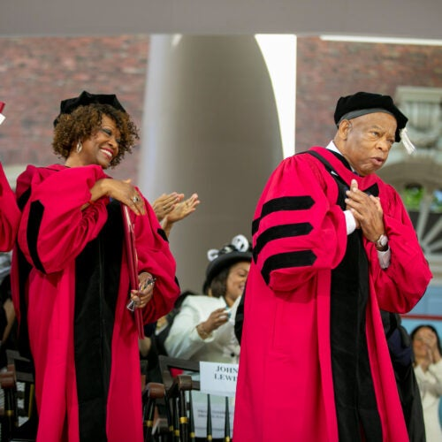 John Lewis at Harvard's 2018 Commencement.