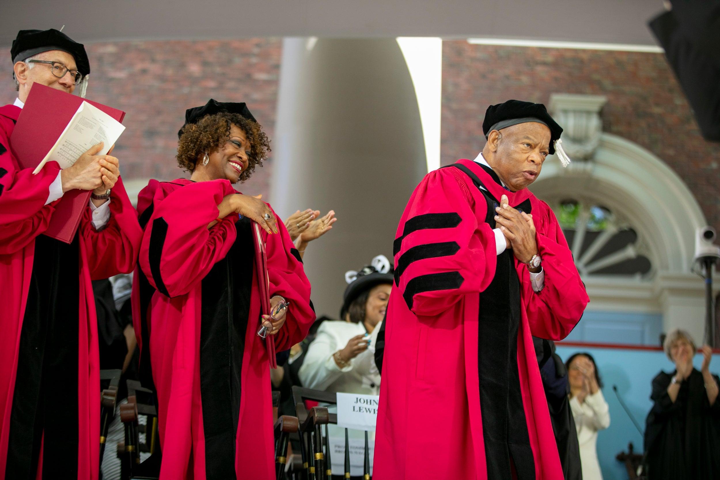 John Lewis at Harvard's 2018 Commencement.