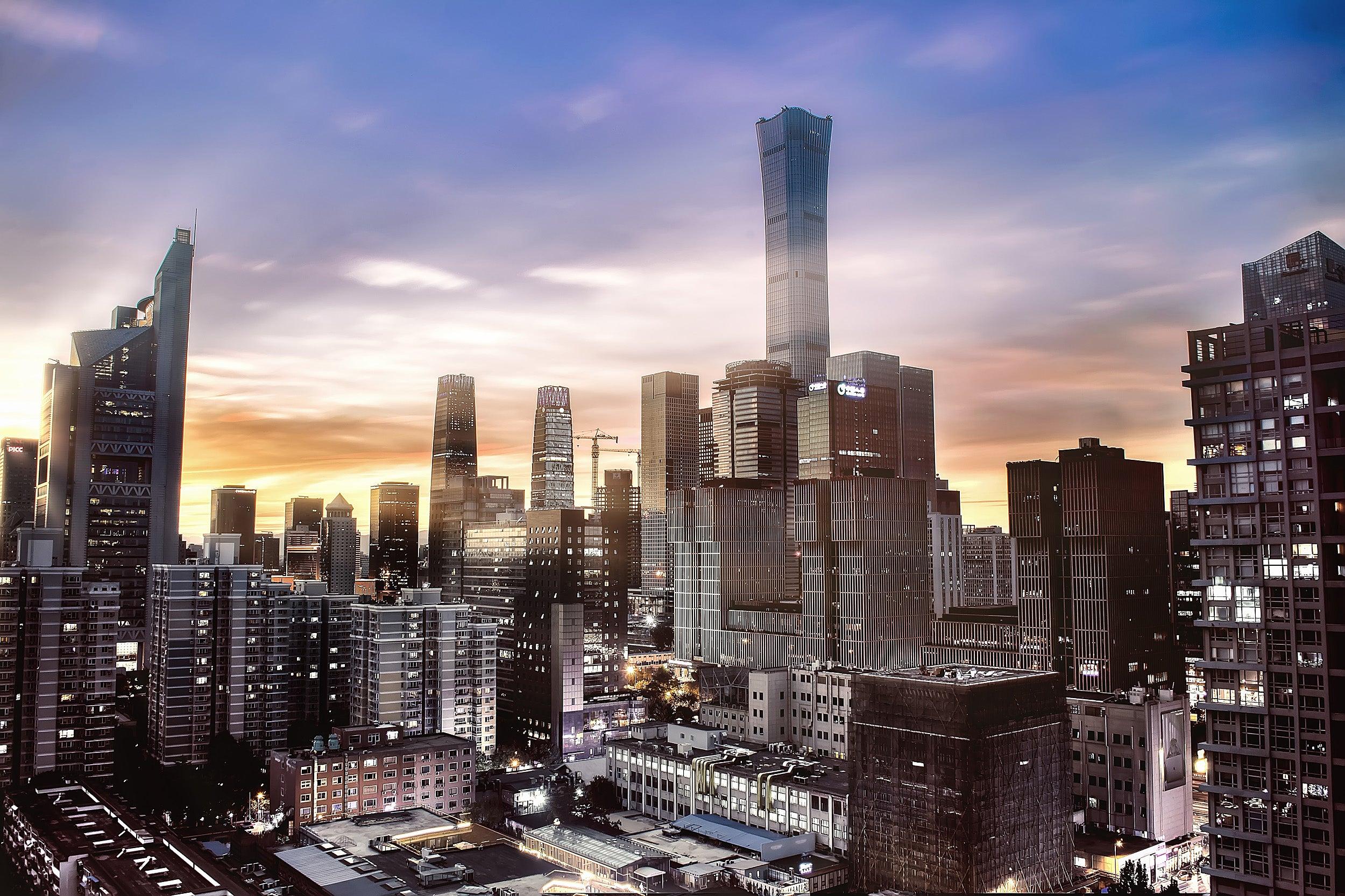 Beijing skyline.