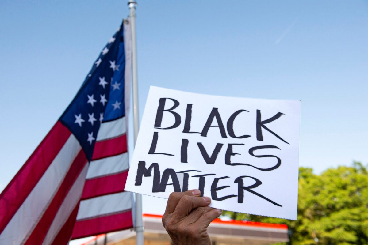 Black Lives Matter rally, Acton, MA.