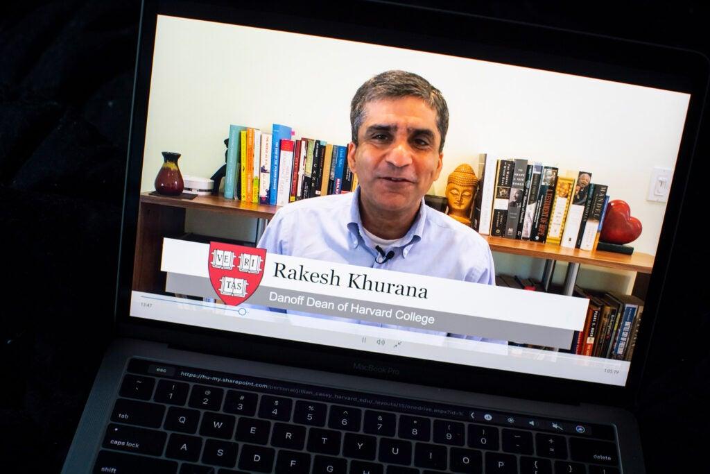 Rakesh Khurana, Danoff Dean of Harvard College.