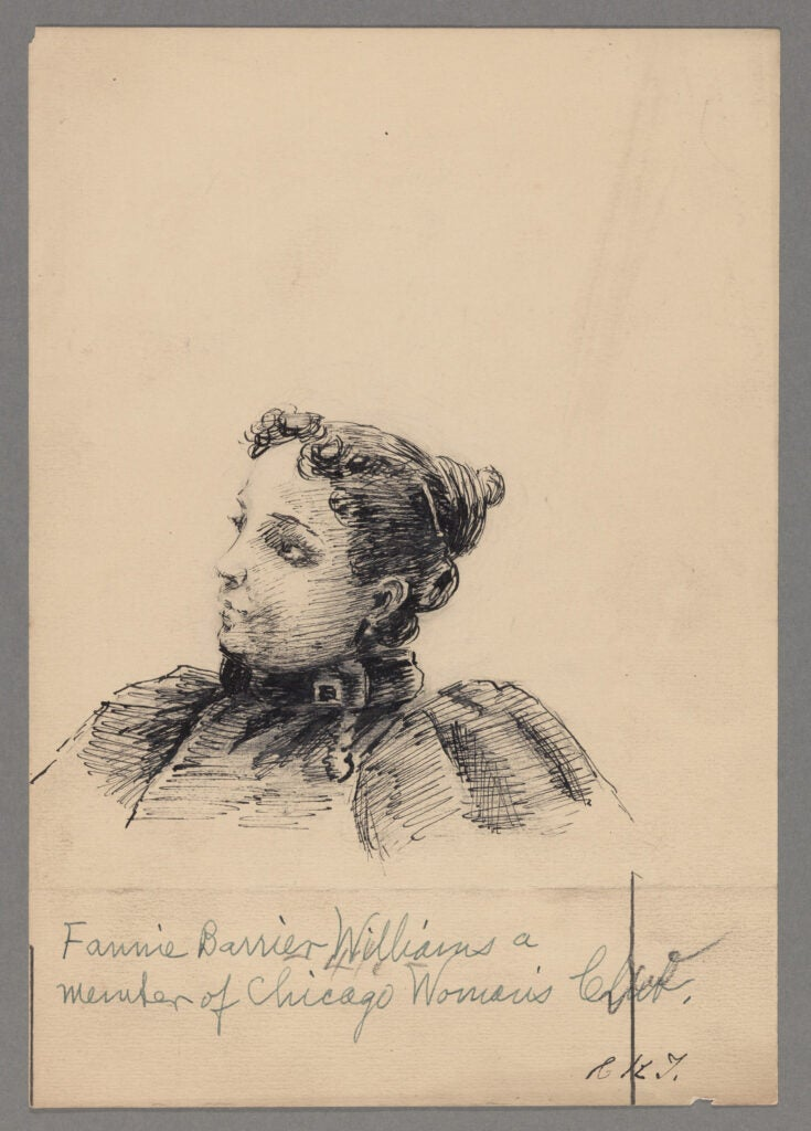 Fannie Barrier Williams drawing.