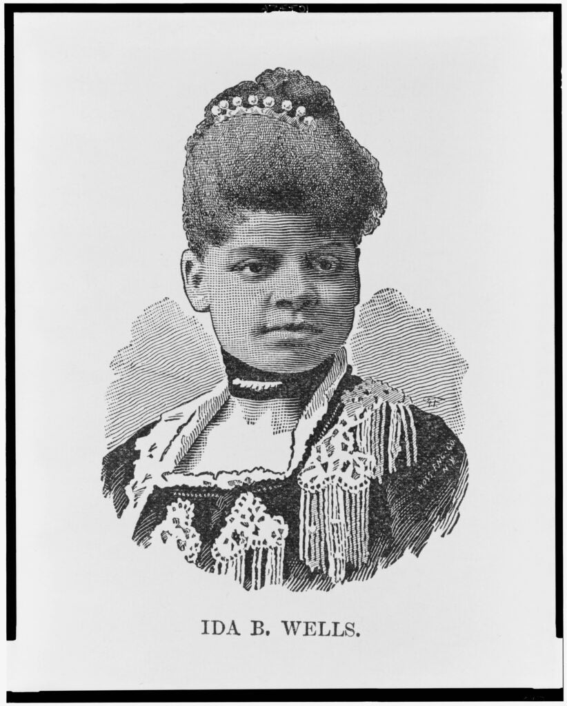 Ida B. Wells engraving.