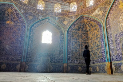 Harsh Sinha '20 in a mosque in Isfahan, Iran.