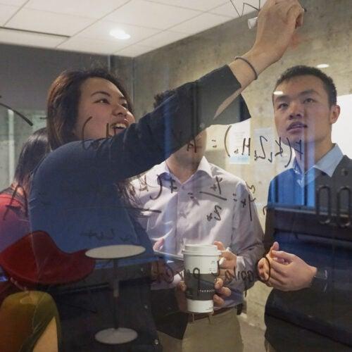 Karen Chan and Jerry Huang.