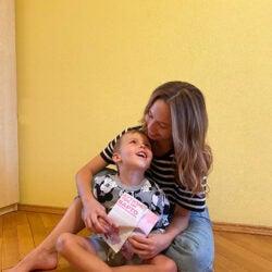 Nika Rudenko with her nephew.