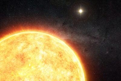 A binary companion the sun is shown..
