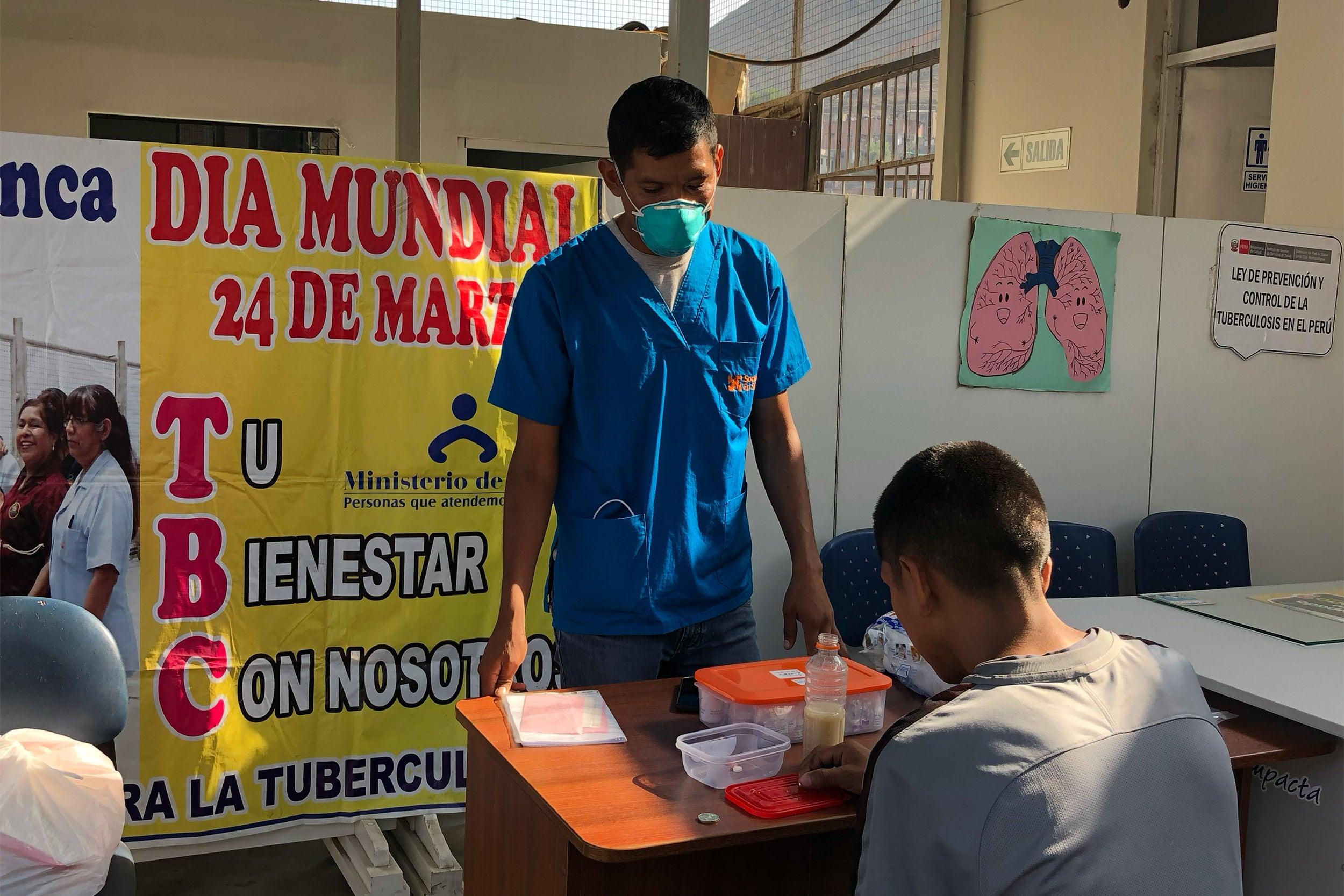 TV patient taking treatment.