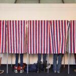 People voting.