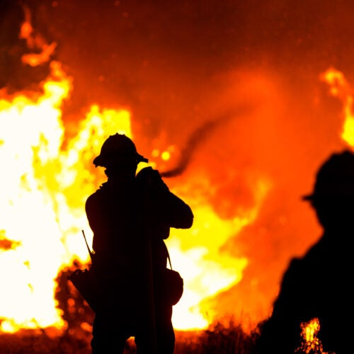 Firefighters in California,