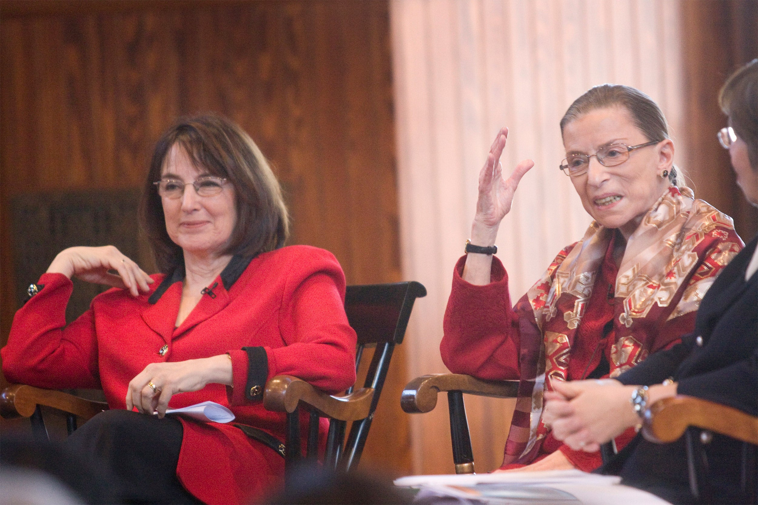 Ruth Bader Ginsburg on Harvard panel.