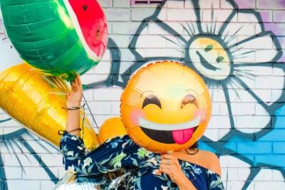 Smiley Face balloon.