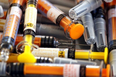 Syringes.