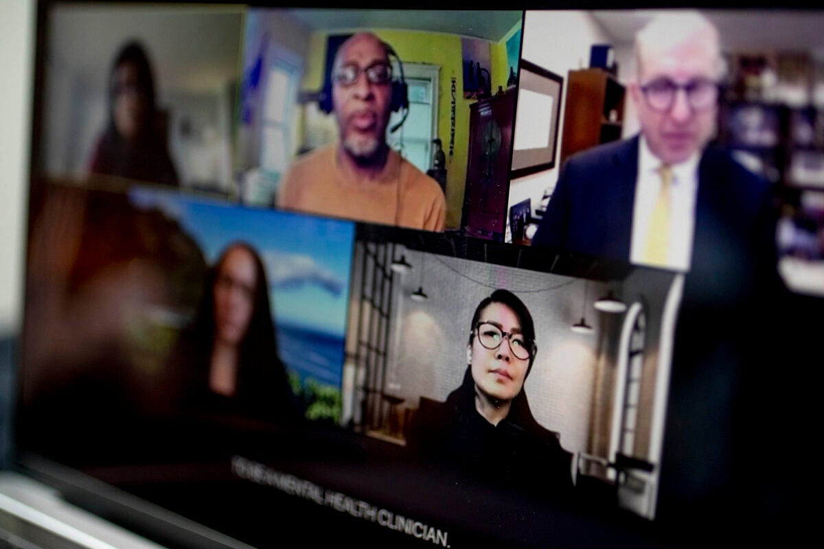 Panel of experts on Zoom screen.