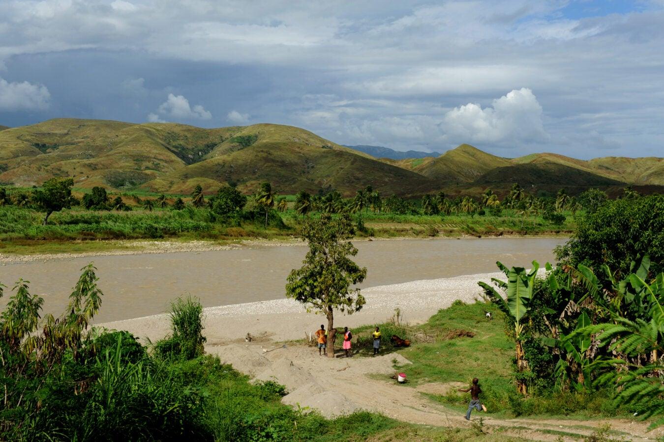 Artibonite River in Haiti.