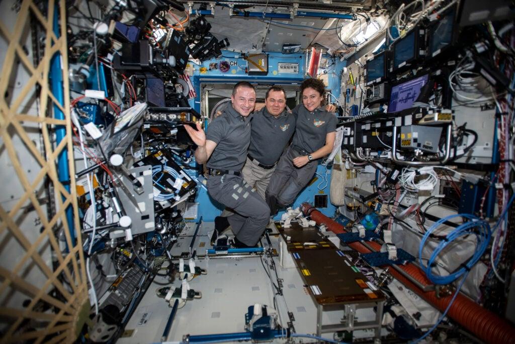 Crew on ISS.