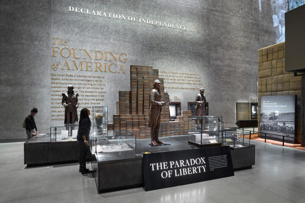 Exhibit shot Smithsonian Institution, National Museum of African American History and Culture.