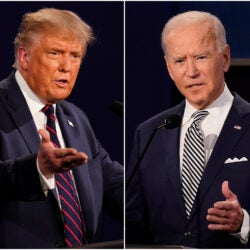 Donald Trump and Joseph Biden.