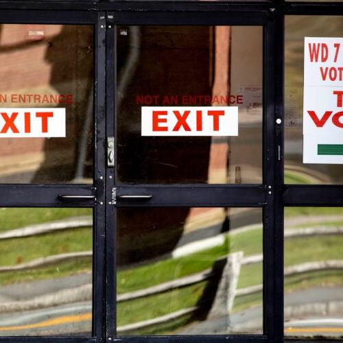 Voting site.