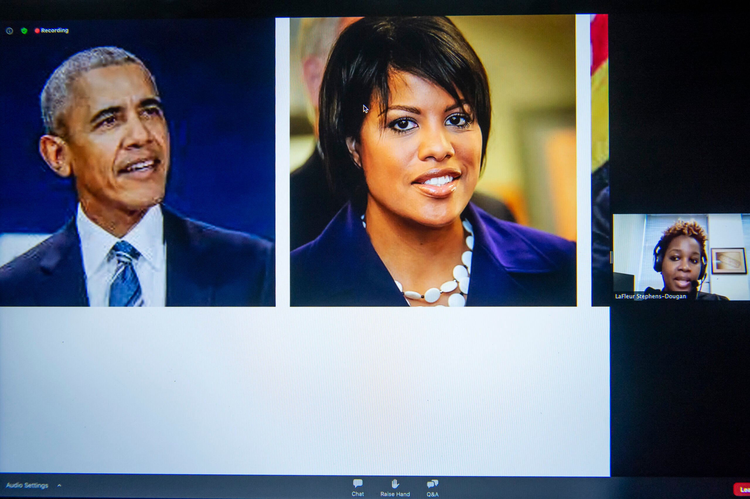President Obama and Baltimore Mayor Stephanie Rawlings-Blake.