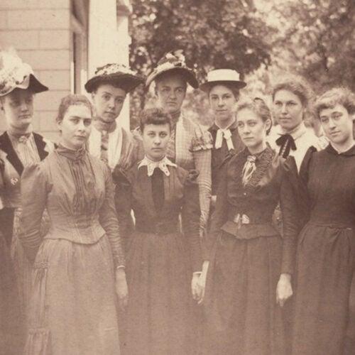 Harvard women in 1890.
