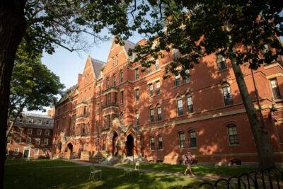 Matthews Hall on Harvard's campus.