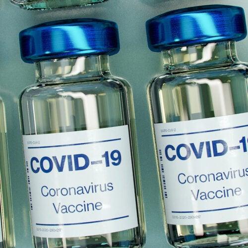 Vaccine bottles.