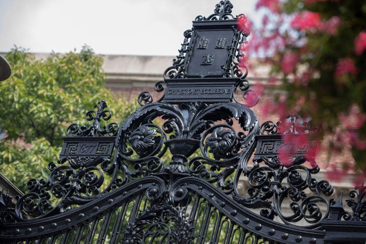 Harvard Yard gate.