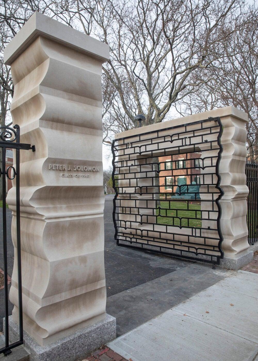 New gate in Harvard Yard.