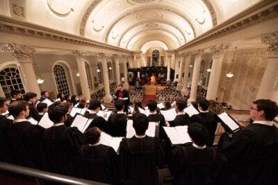 Choir in Memorial Church.