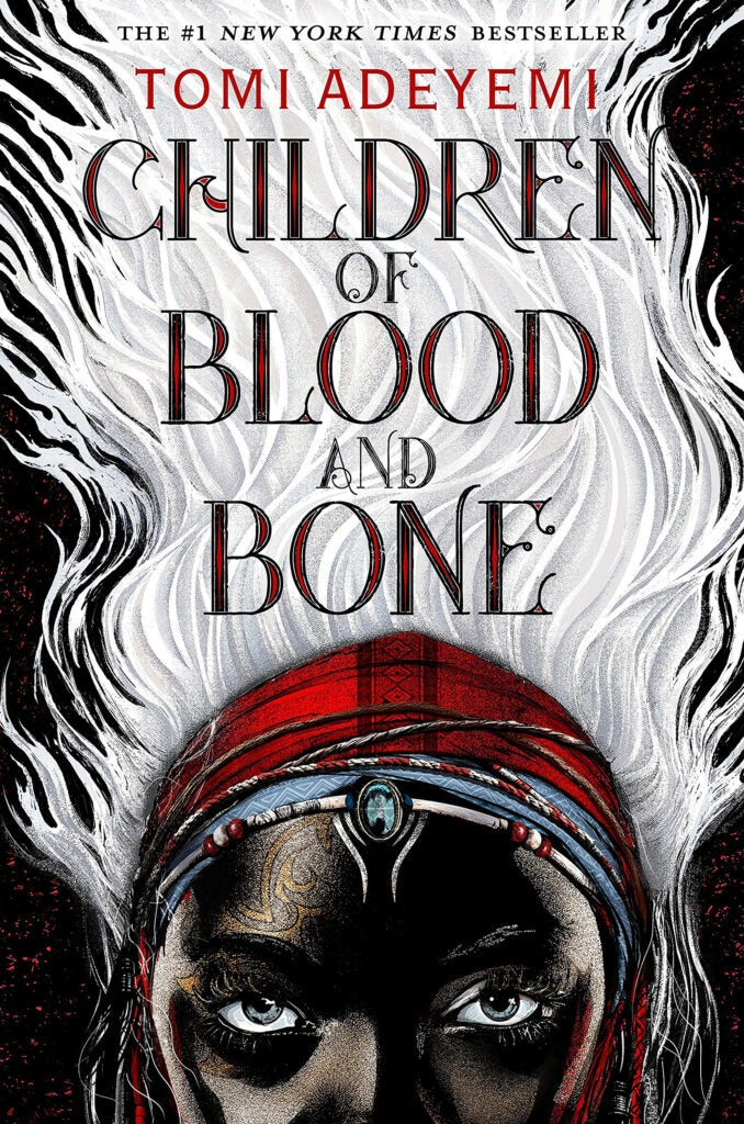 "Cover of ""Children of Blood and Bone"" by Tomi Adeyemi."