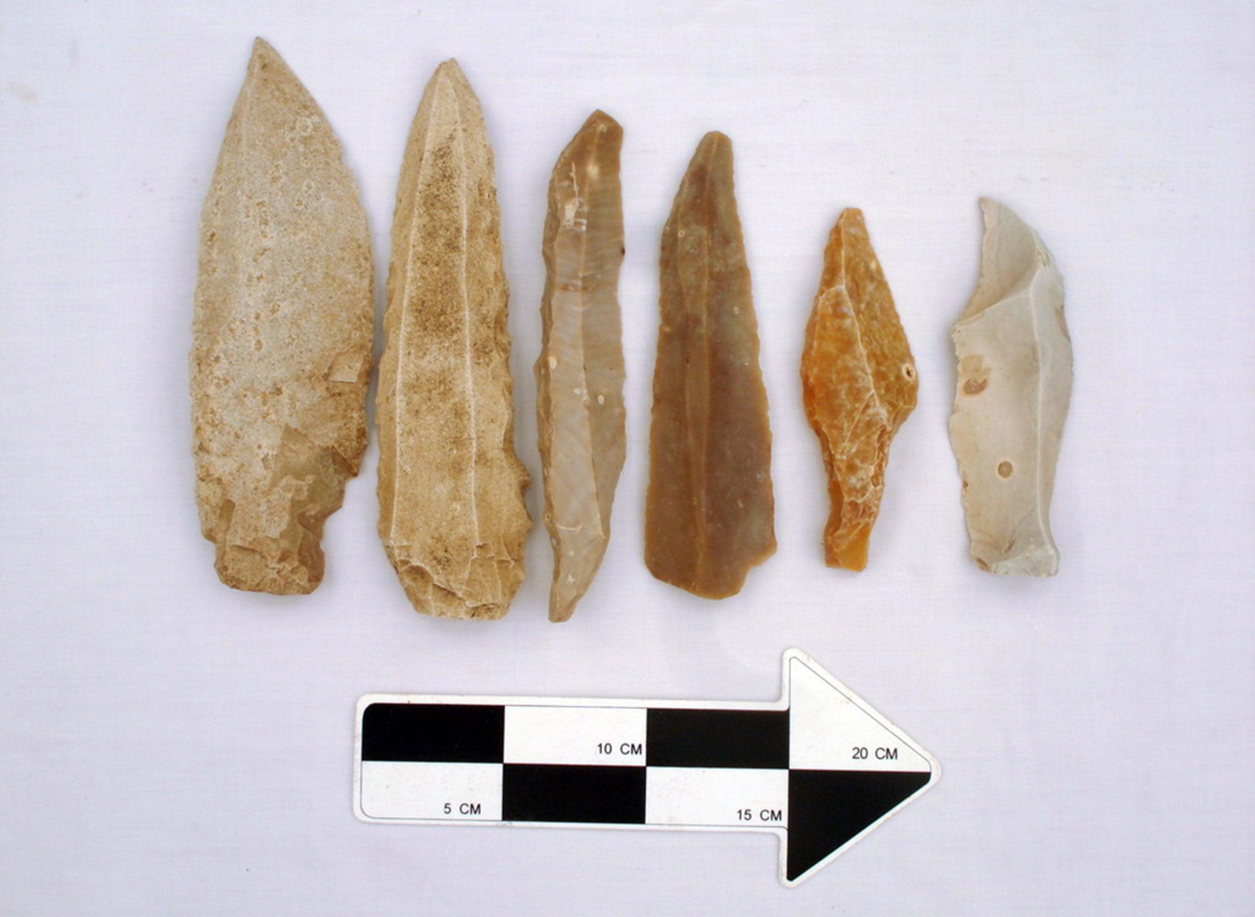 Stone tools.