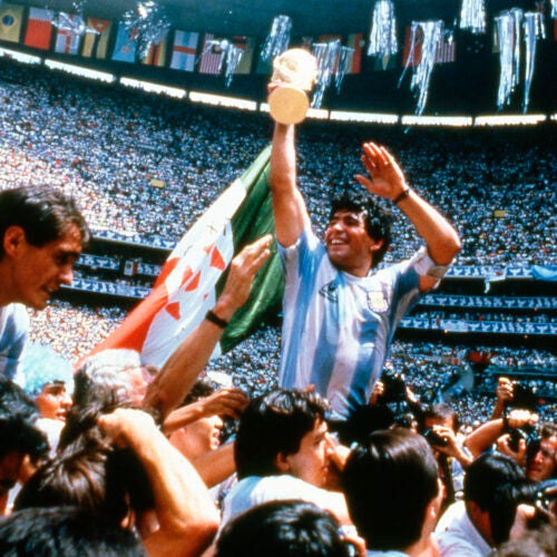 Diego Maradona in 1986.